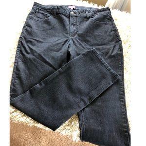 NYDJ Jeans - NYDJ Marilyn Straight Leg Dark Rinse Jeans 16W